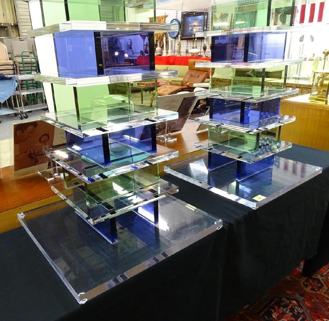 HAZIZA ACRYLIC SIDE TABLES - 2