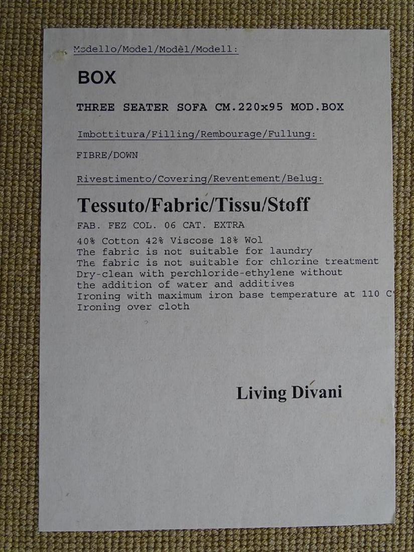 "PIERO LISSONI FOR LIVING DIVANI ""X-BOX"" SOFA - 3"