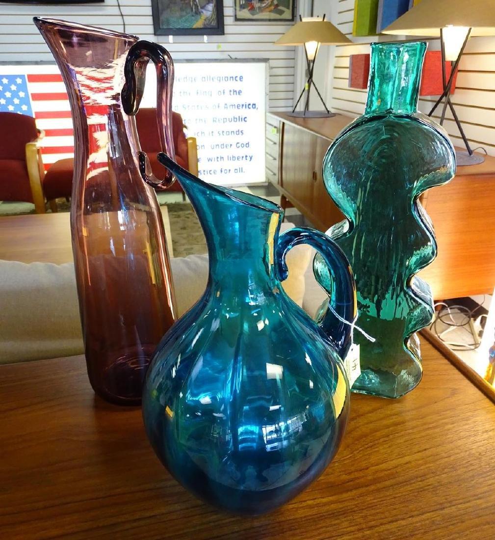 TRIO OF BLENKO ART GLASS ITEMS