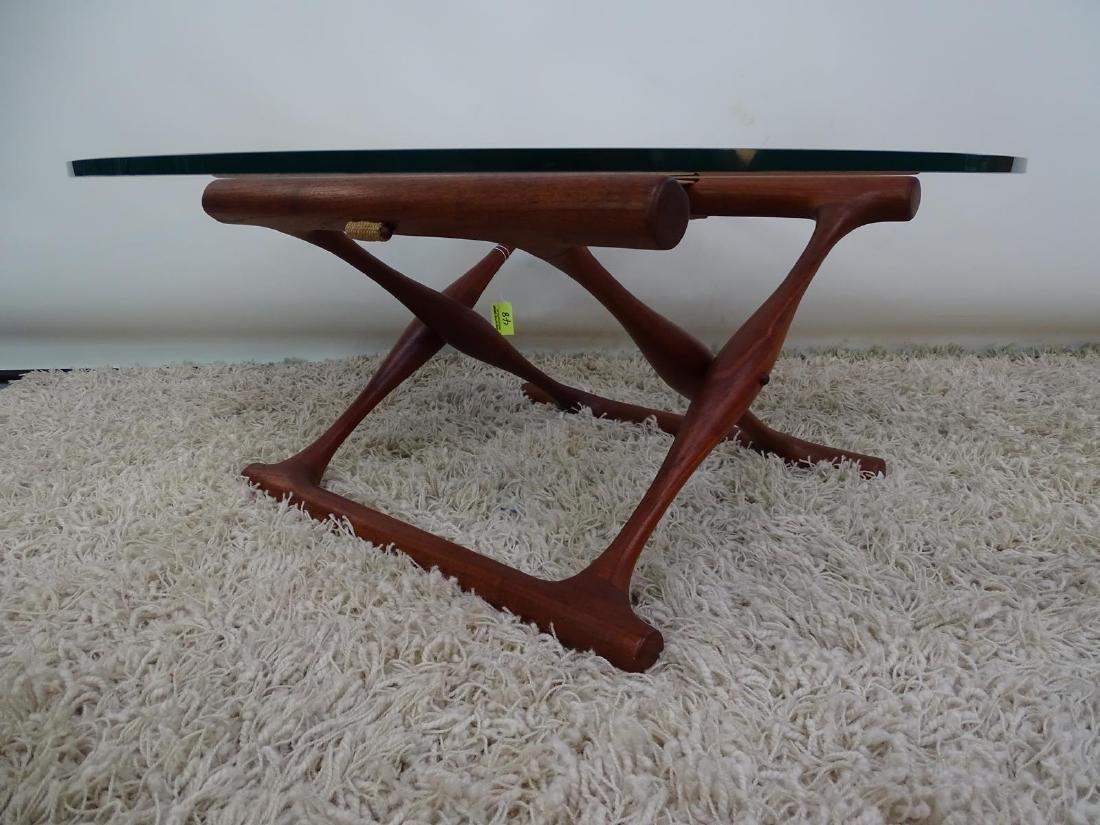 RARE - POUL HUNDEVAD MODEL PH-42 X-BASE TABLE WITH - 2