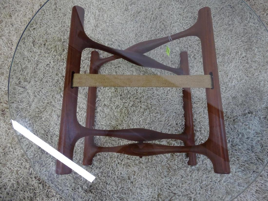 RARE - POUL HUNDEVAD MODEL PH-42 X-BASE TABLE WITH - 3