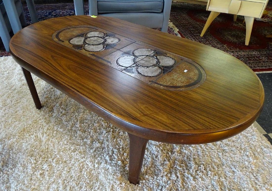 GANGSO MOBLER DANISH ROSEWOOD TILE TOP COFFEE TABLE