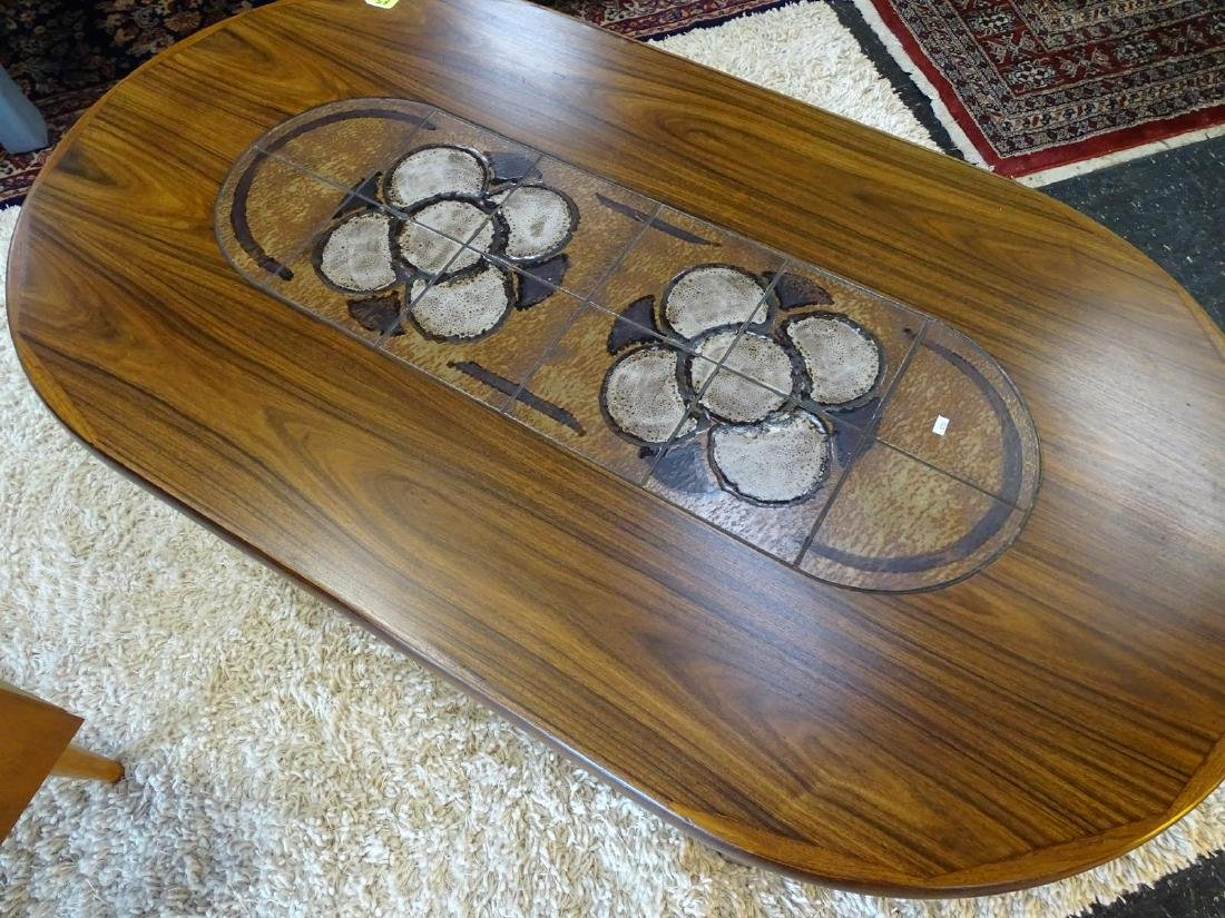 GANGSO MOBLER DANISH ROSEWOOD TILE TOP COFFEE TABLE - 2
