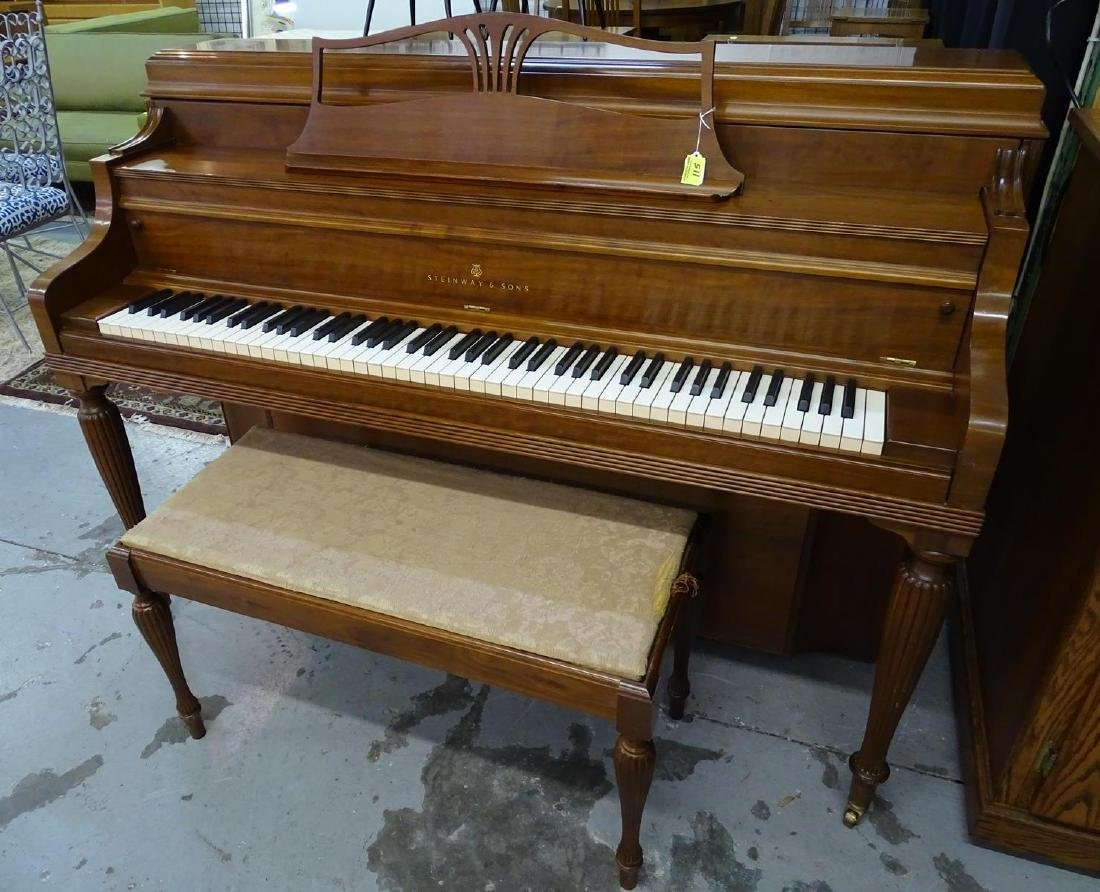 STEINWAY & SONS SPINET PIANO