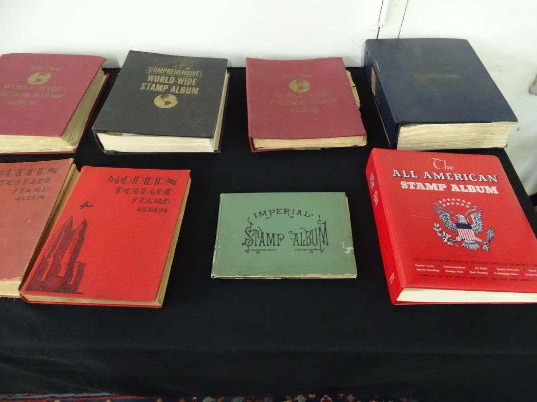 EXTENSIVE COLLECTION OF POSTAGE STAMP ALBUMS - 3