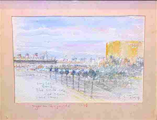 DYER REYNOLDS (AMERICAN, 1930-80) WATERCOLOR