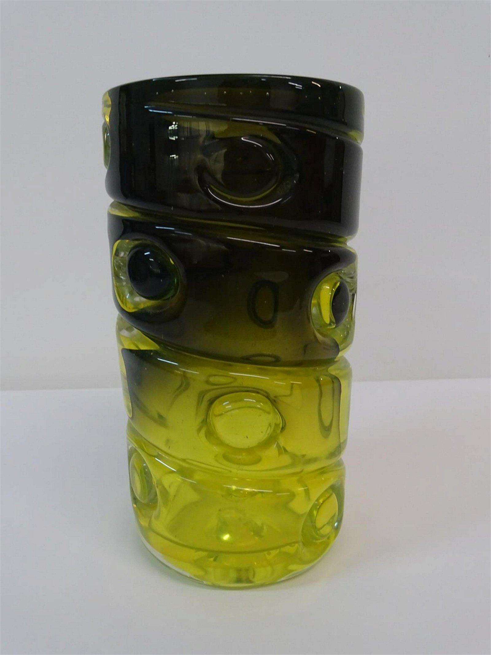 HEAVY MURANO ART GLASS VASE