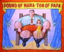 POUND OF MAMA - TON OF PAPA SIDESHOW BANNER
