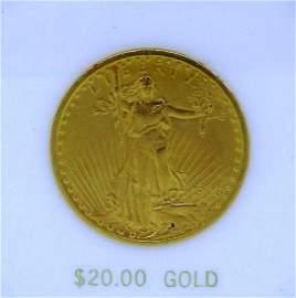 1908 U.S. ST. GAUDENS $20 GOLD