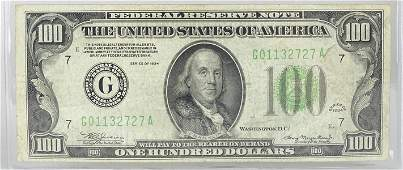 1934 U.S. $100 FEDERAL RESERVE NOTE