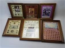 COLLECTION OF FRAMED COINAGE
