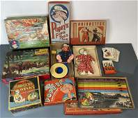 GROUPING OF VINTAGE CHILD'S GAMES/PUZZLES