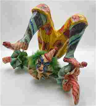 LARGE PAPER MACHE CLOWN