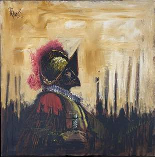 LEE REYNOLDS PAINTING OF CONQUISTADOR