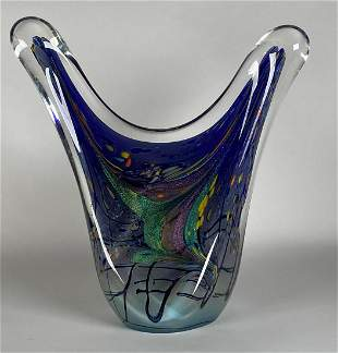 ROLLIN KARG DICHROIC ART GLASS SCULPTURE
