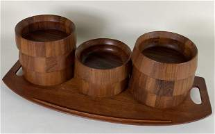 GROUPING OF DANSK WOODEN WARES
