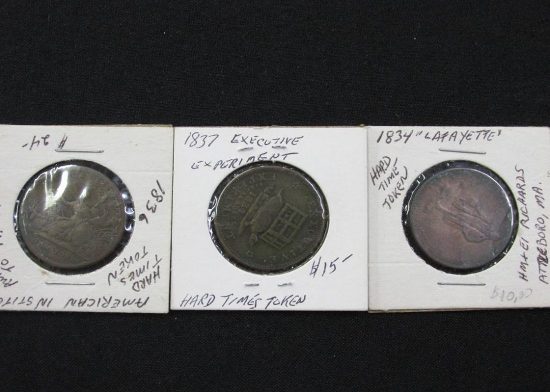 3 PC. HARD TIMES TOKENS/MEDALS