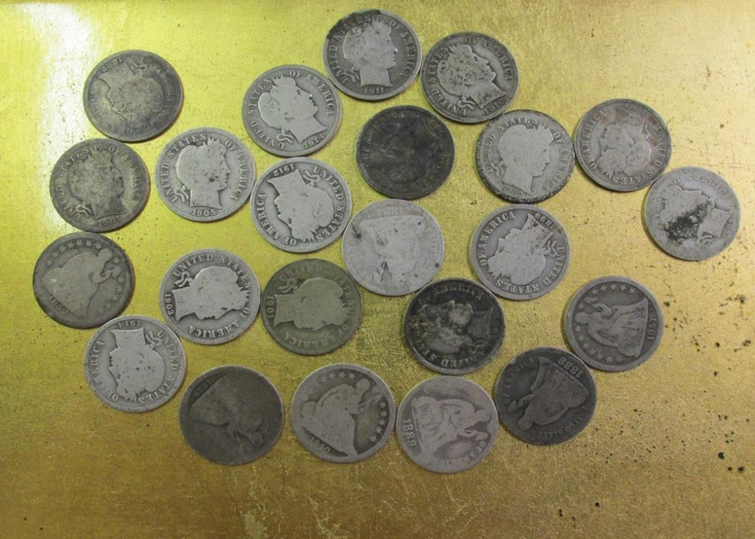 $2.30 FV US DIMES, BARBER AND SEATED LIBERTY