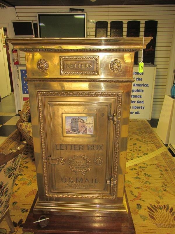 ORIGINAL LETTER BOX FROM THE WILLARD HOTEL, WASHINGTON,