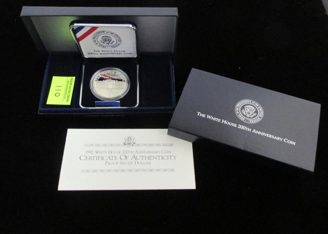 1992 WHITE HOUSE 200TH ANNIV. SILVER DOLLAR