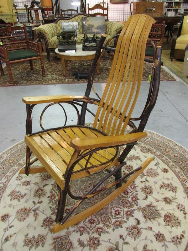 AMISH BENT HICKORY ROCKING CHAIR
