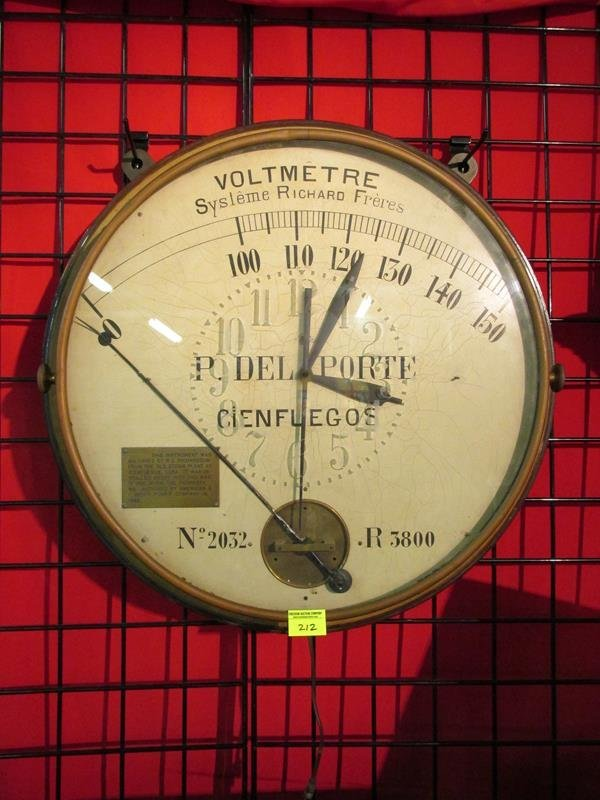 INDUSTRIAL GAUGE CONVERTED TO CLOCK