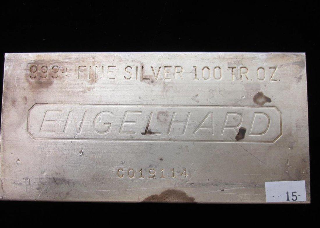 ENGELHARD 100 OUNCE SILVER BAR