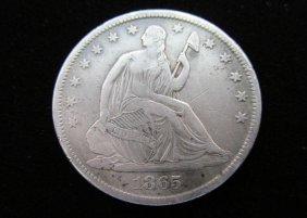 1865-s Seated Liberty Half Dollar