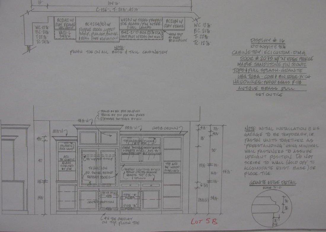 CUSTOM ENTERTAINMENT UNIT - SHOWROOM DISPLAY - 5