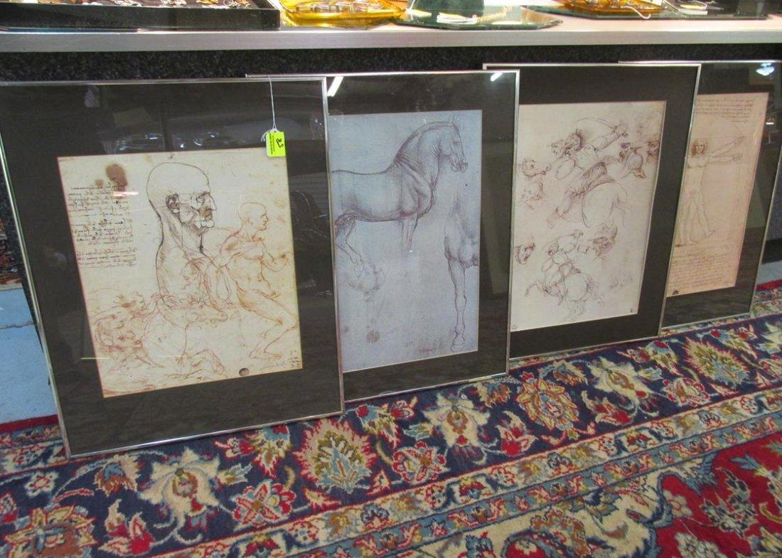 4 PC. FRAMED ART