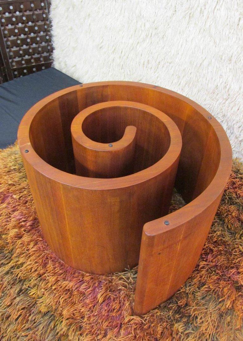 VLADIMIR KAGAN (ATTR.) SNAIL COFFEE TABLE, WALNUT - 3