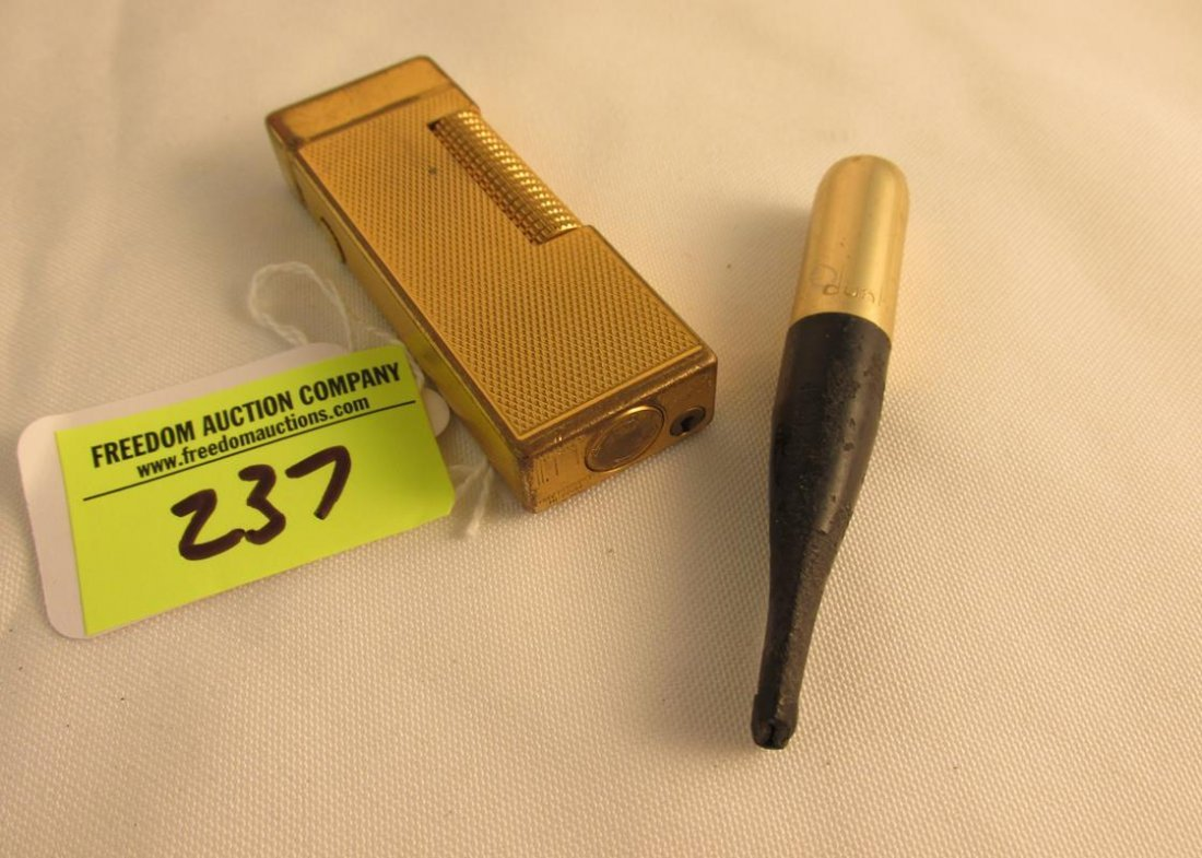 DUNHILL LIGHTER AND CIGARETTE HOLDER