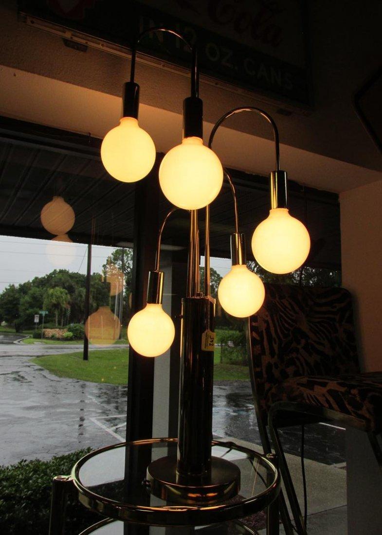 BRASS 5 BALL WATERFALL LAMP - LAUREL