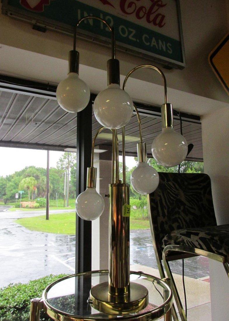 BRASS 5 BALL WATERFALL LAMP - LAUREL - 2