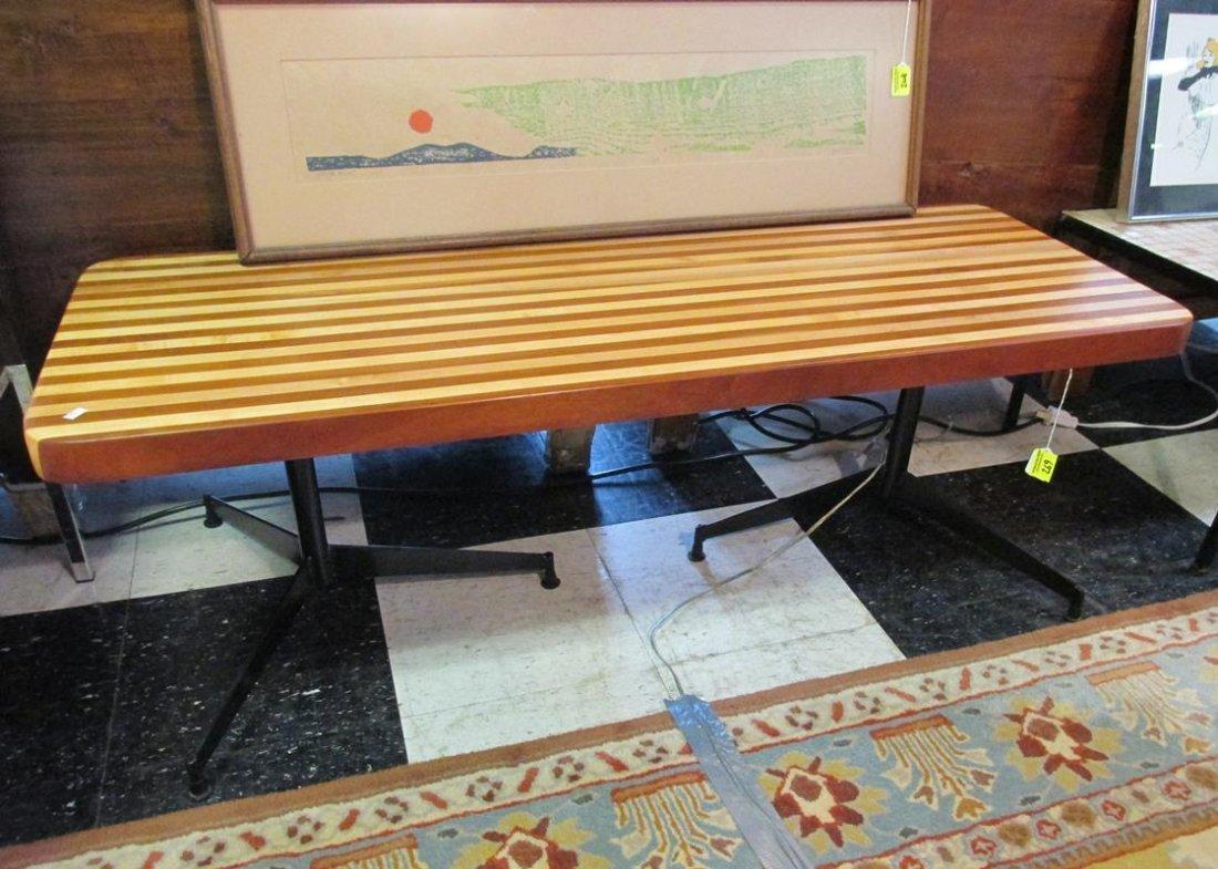SLAT BLOCK BENCH/COFFEE TABLE
