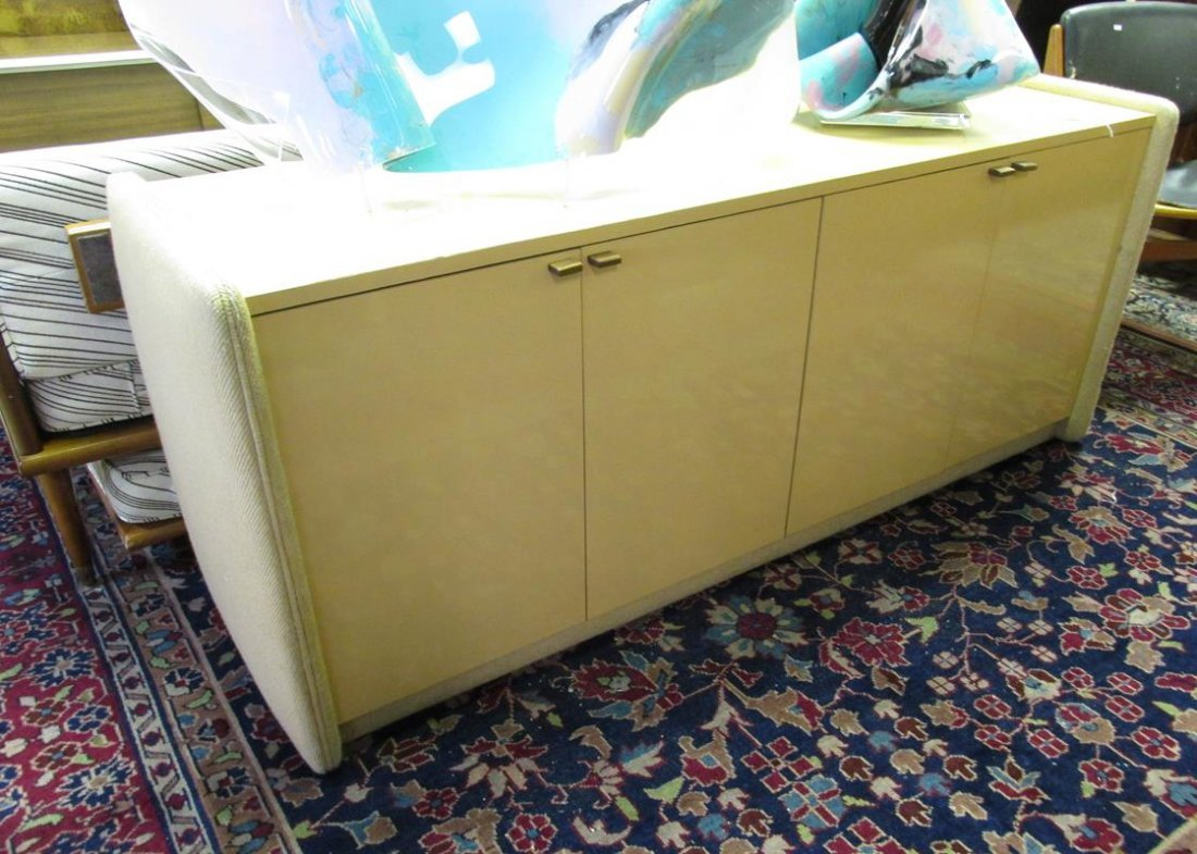 MILO BAUGHMAN CREDENZA WITH FABRIC SIDES
