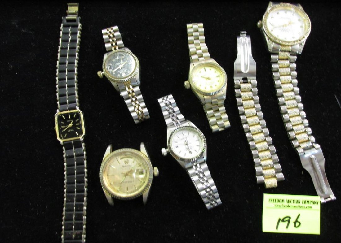 LOT OF ROLEX KNOCK-OFFS