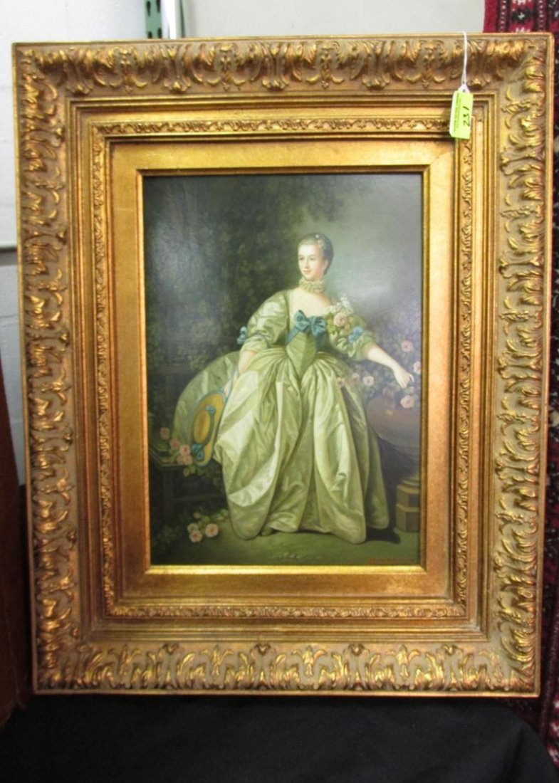 RICHARDSON GICLEE PORTRAIT IN GILT FRAME