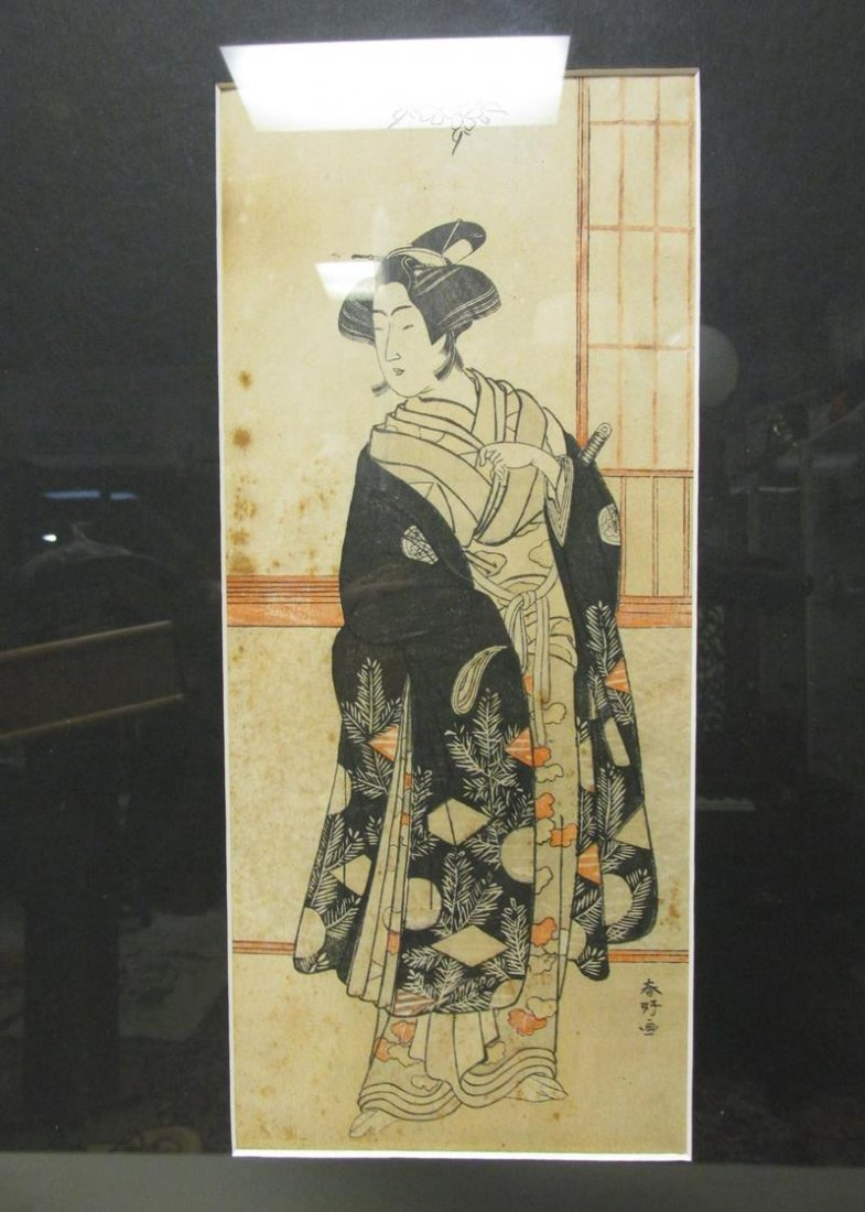 19TH C. JAPANESE BEJIN LADY PRINT