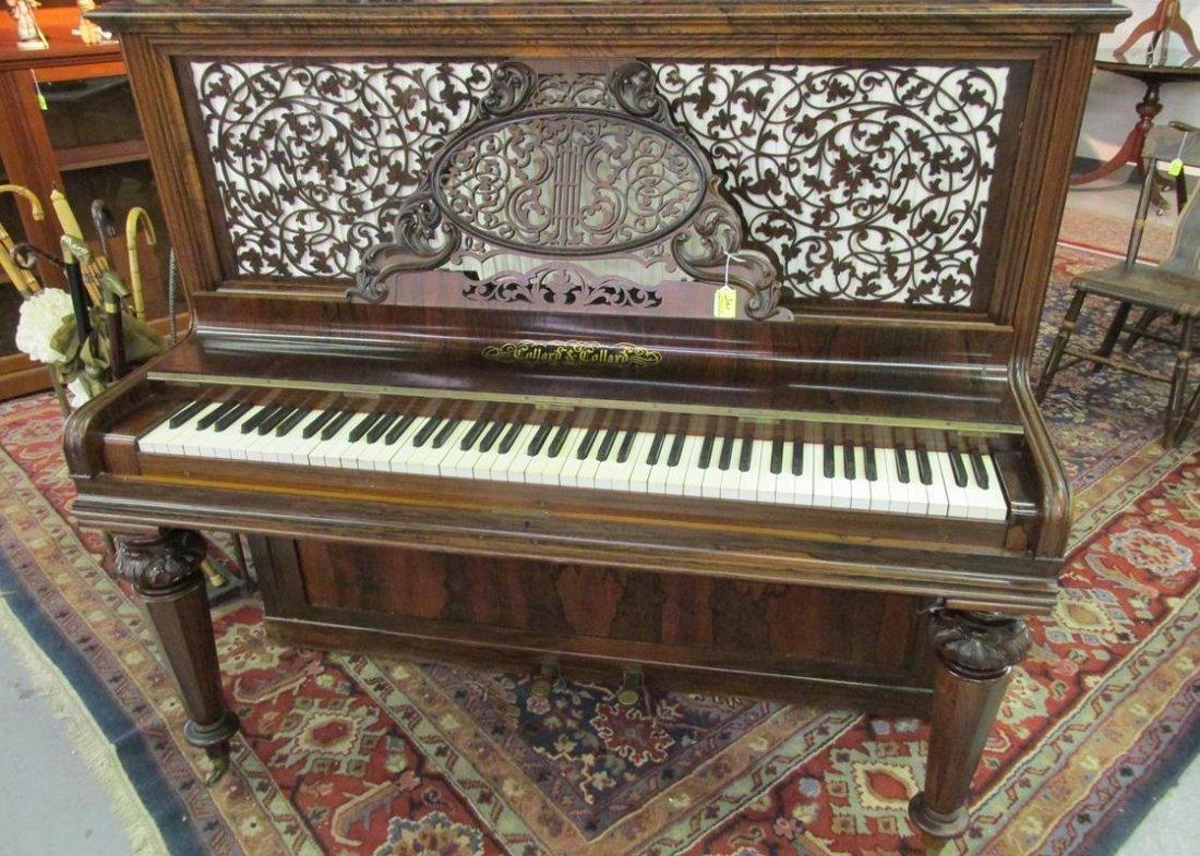 COLLARD & COLLARD ROSEWOOD COTTAGE PIANO