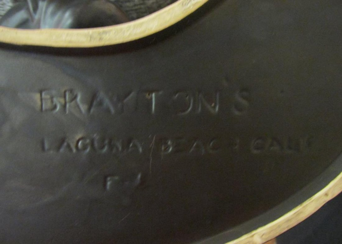 BRAYTON'S, LAGUNA BEACH, CA POTTERY BUST OF WOMAN - 2
