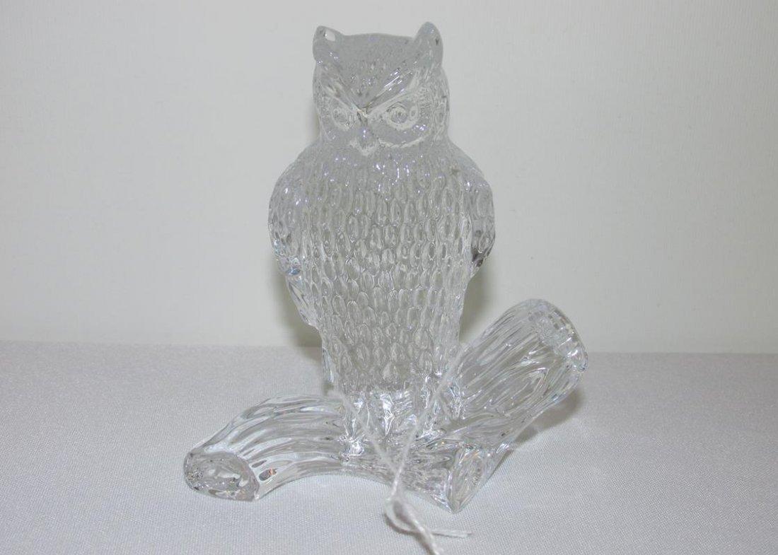 "WATERFORD CRYSTAL OWL, 4"""