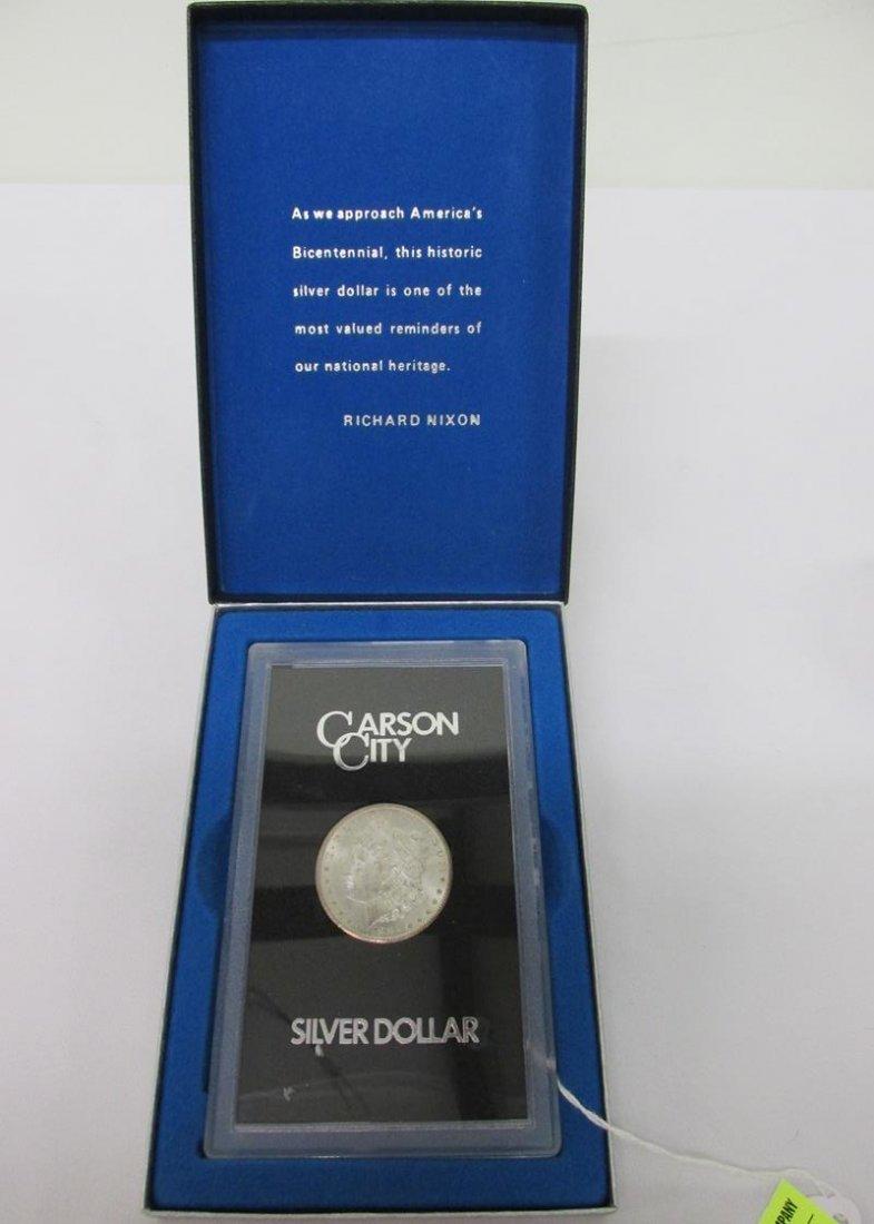 1883-CC MORGAN SILVER DOLLAR, GSA, OGP