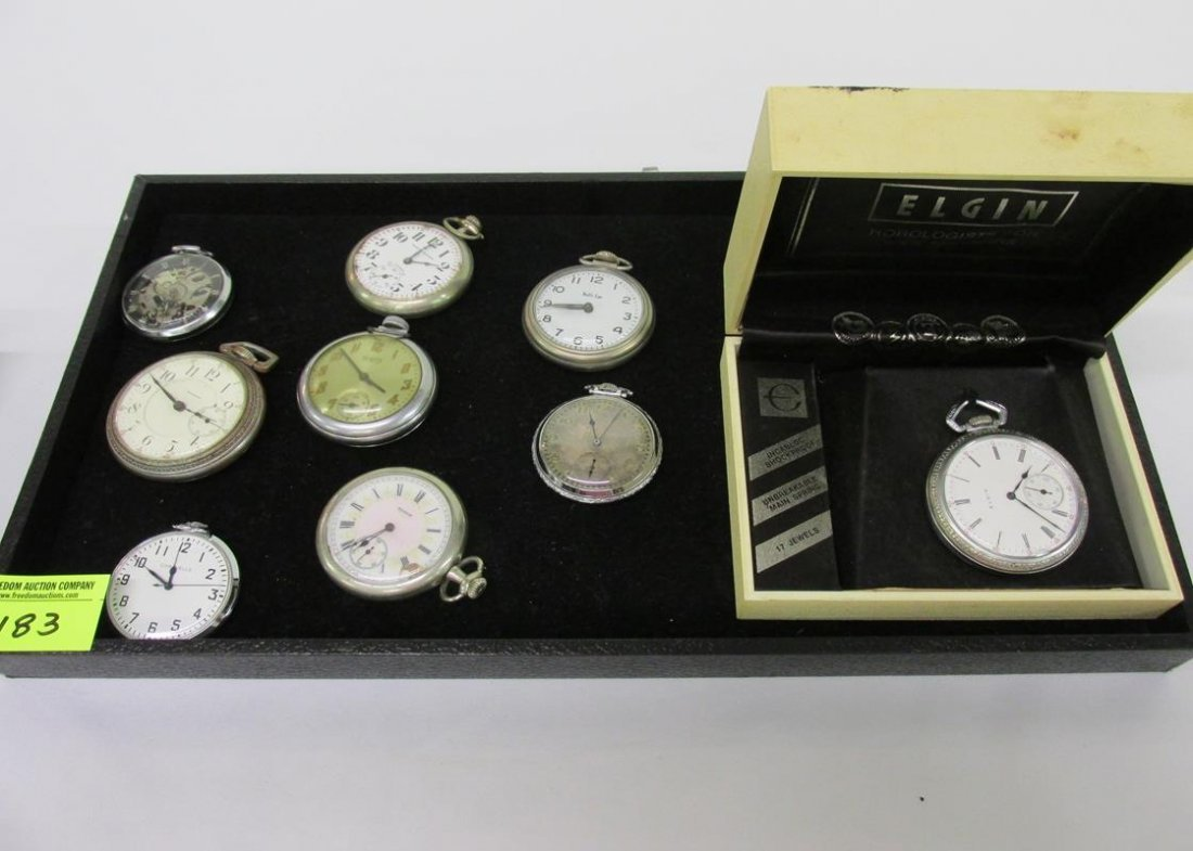 COLLECTION OF MEN'S POCKETWATCHES