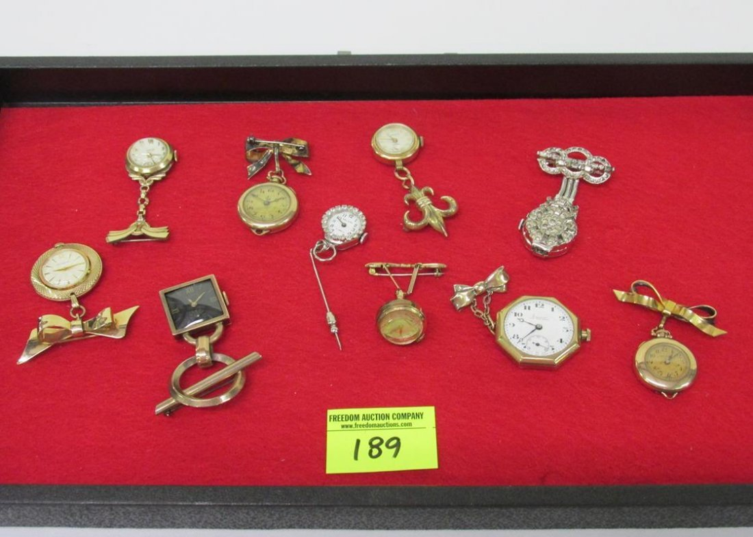 COLLECTION OF LADIES HANGING WATCHES