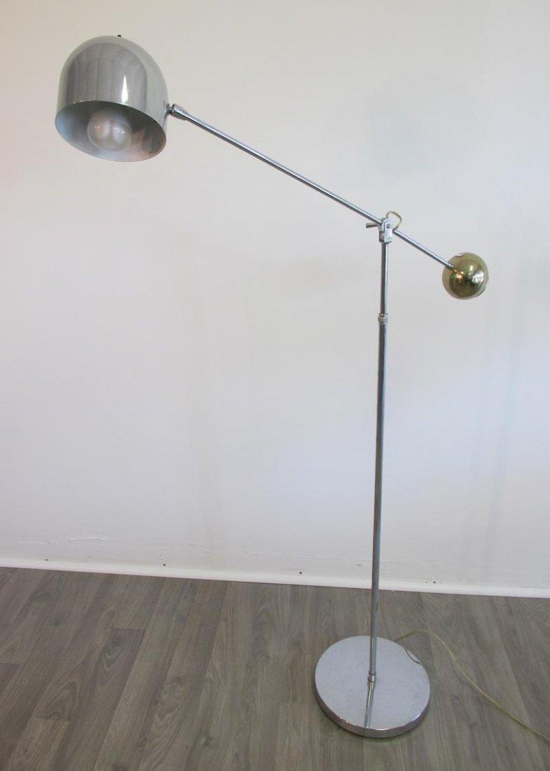 CHROME ARTICULATING FLOOR LAMP