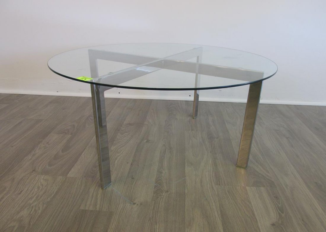 MIES VAN DER ROHE STYLE COFFEE TABLE