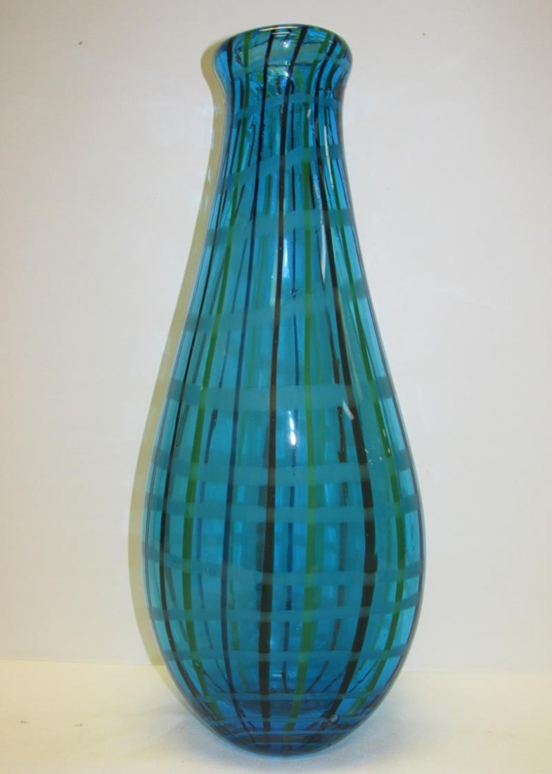 LARGE VINTAGE MURANO ART GLASS VASE