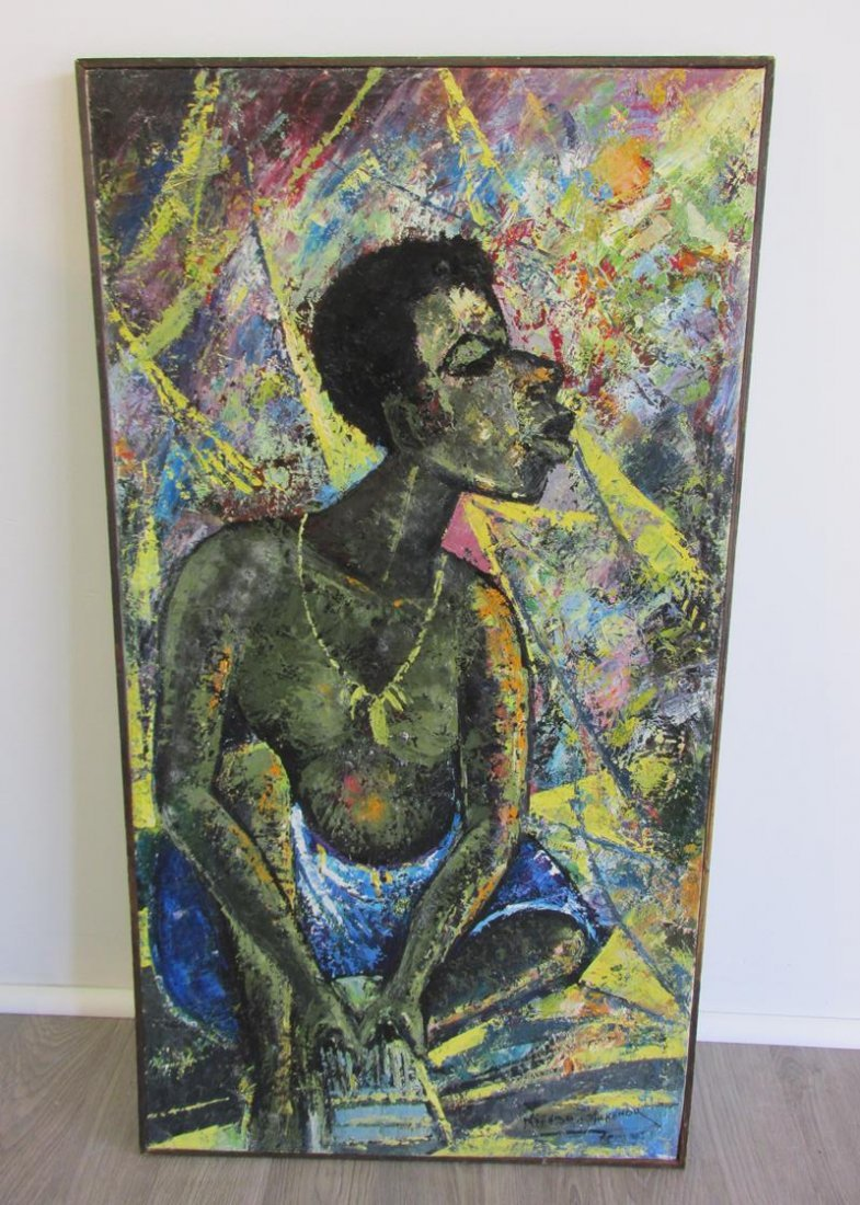 AFRICAN PORTRAIT ON CANVAS