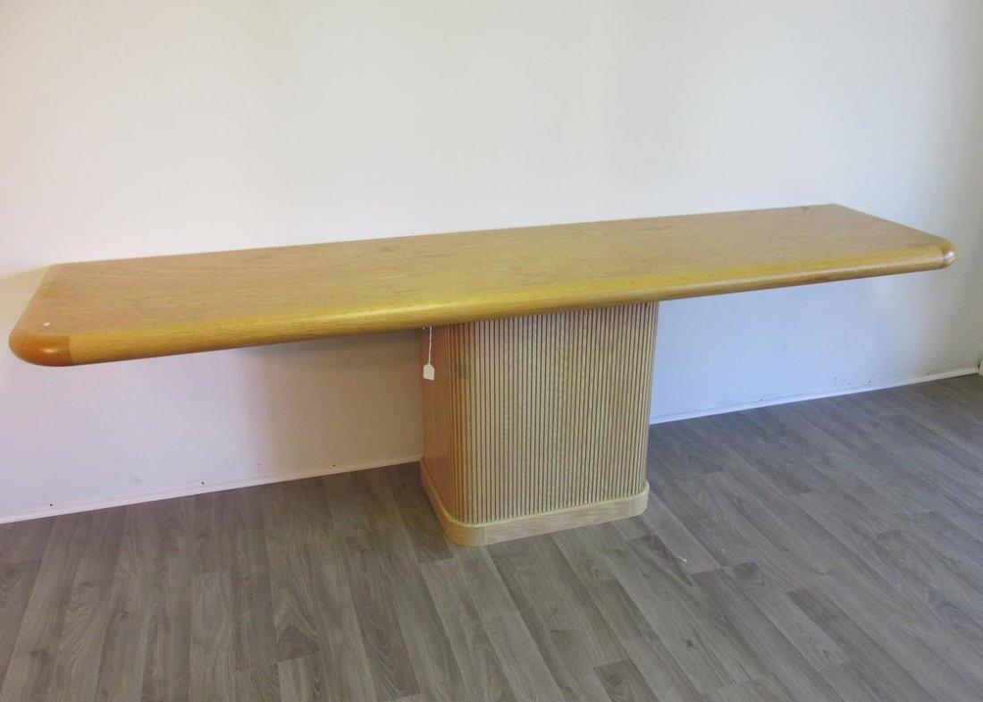 LARGE OAK CONSOLE TABLE
